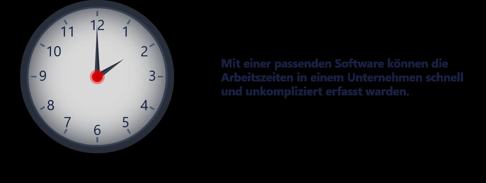 Darstellung einer Uhr - Arbeitszeiten erfassen
