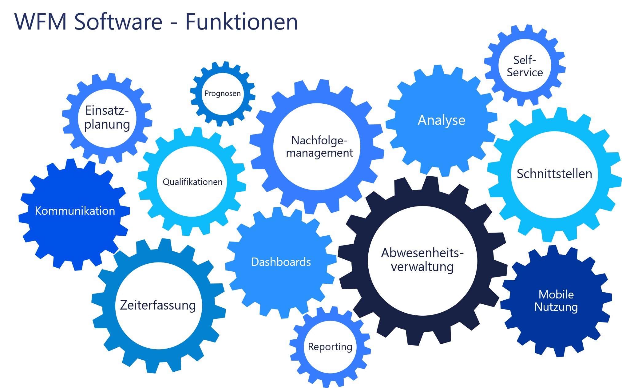 Darstellung - Wichtige Funktionen einer WFM Software