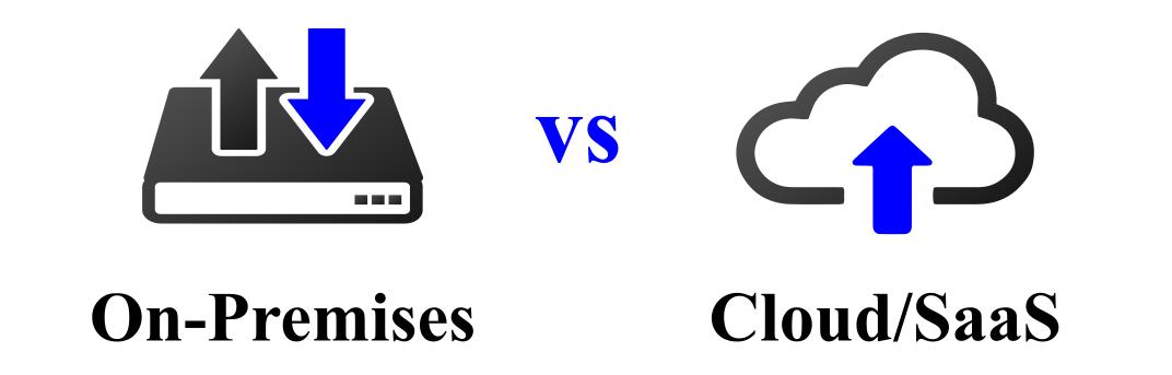 On Premises vs Cloud und SaaS
